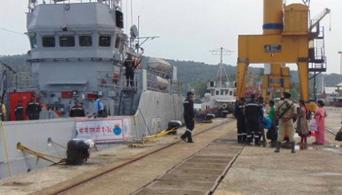 Stranded Passengers at Hut Bay Evacuated by Navy